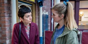 May is confronted by Gina Seddon in Coronation Street