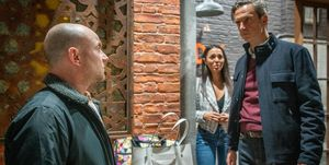 Duncan Radfield confronts Tim Metcalfe for speaking to his daughter in Coronation Street