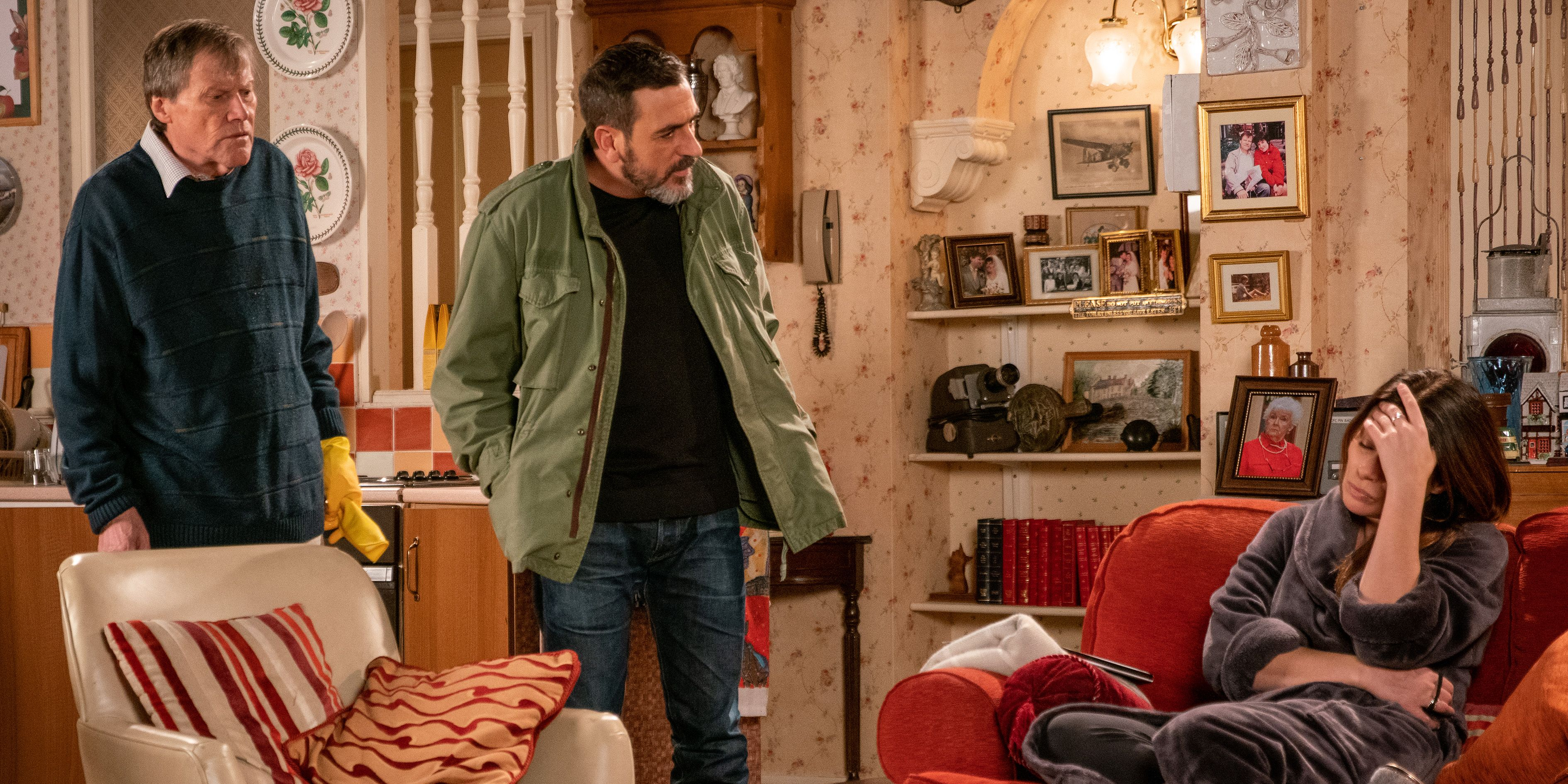 Peter Barlow confronts Carla Connor in Coronation Street