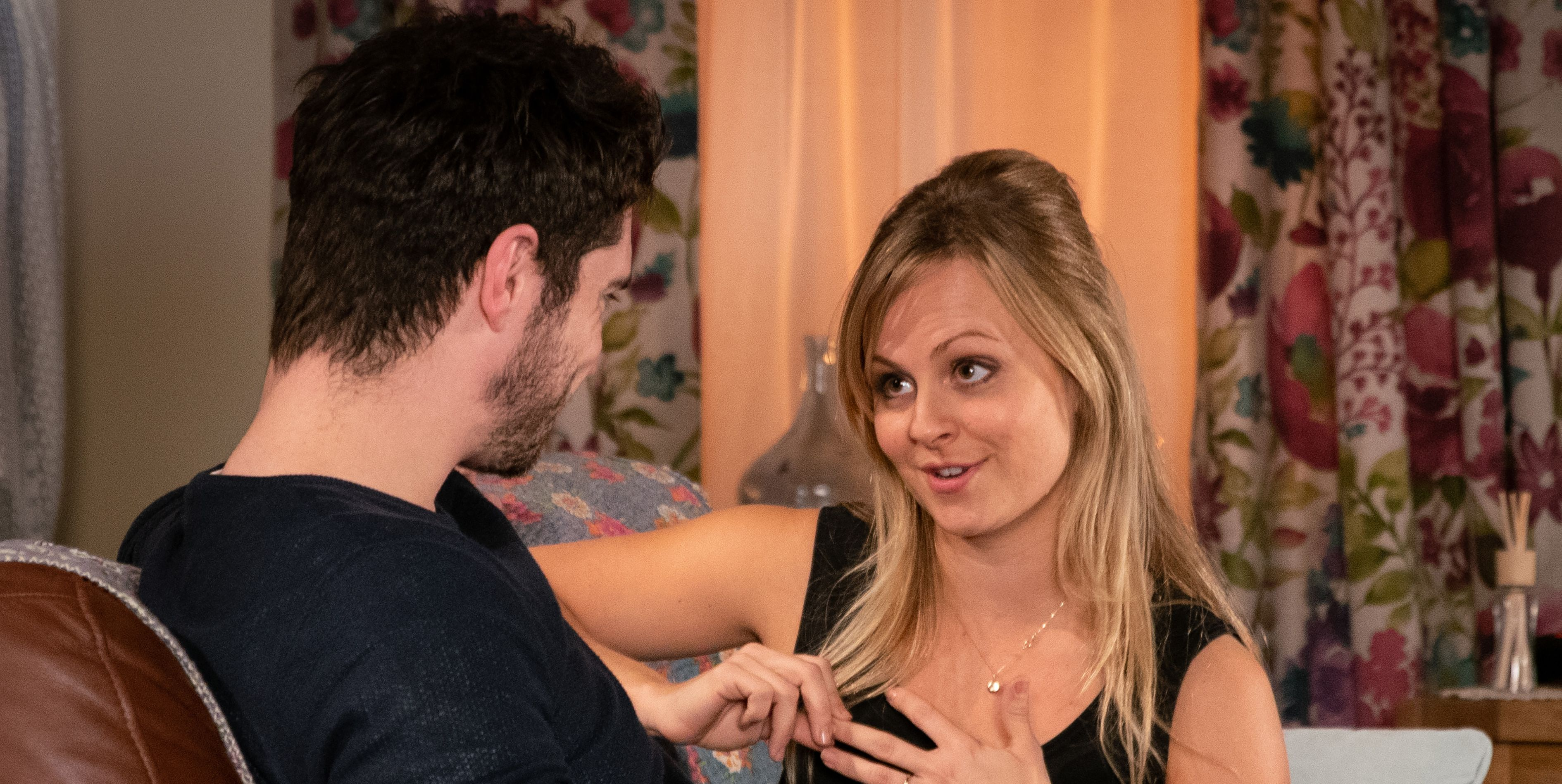 Adam Barlow and Sarah Platt get closer in Coronation Street