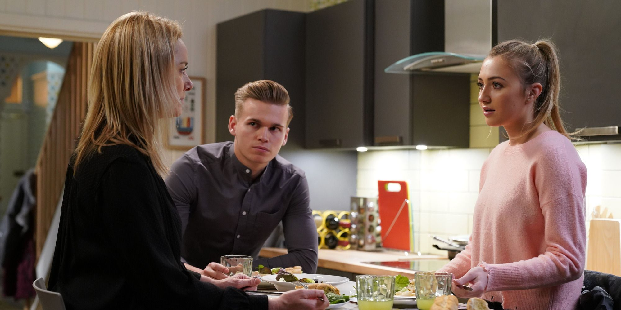 Hunter Owen irritates Mel by having Louise Mitchell over in EastEnders