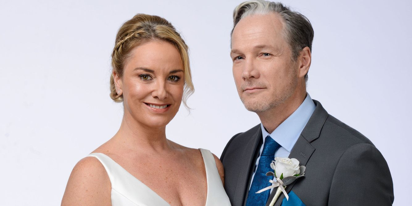 Ray Kelly and Mel Owen's wedding day in EastEnders