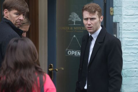 Jay Brown is confronted by Ruby Allen in EastEnders