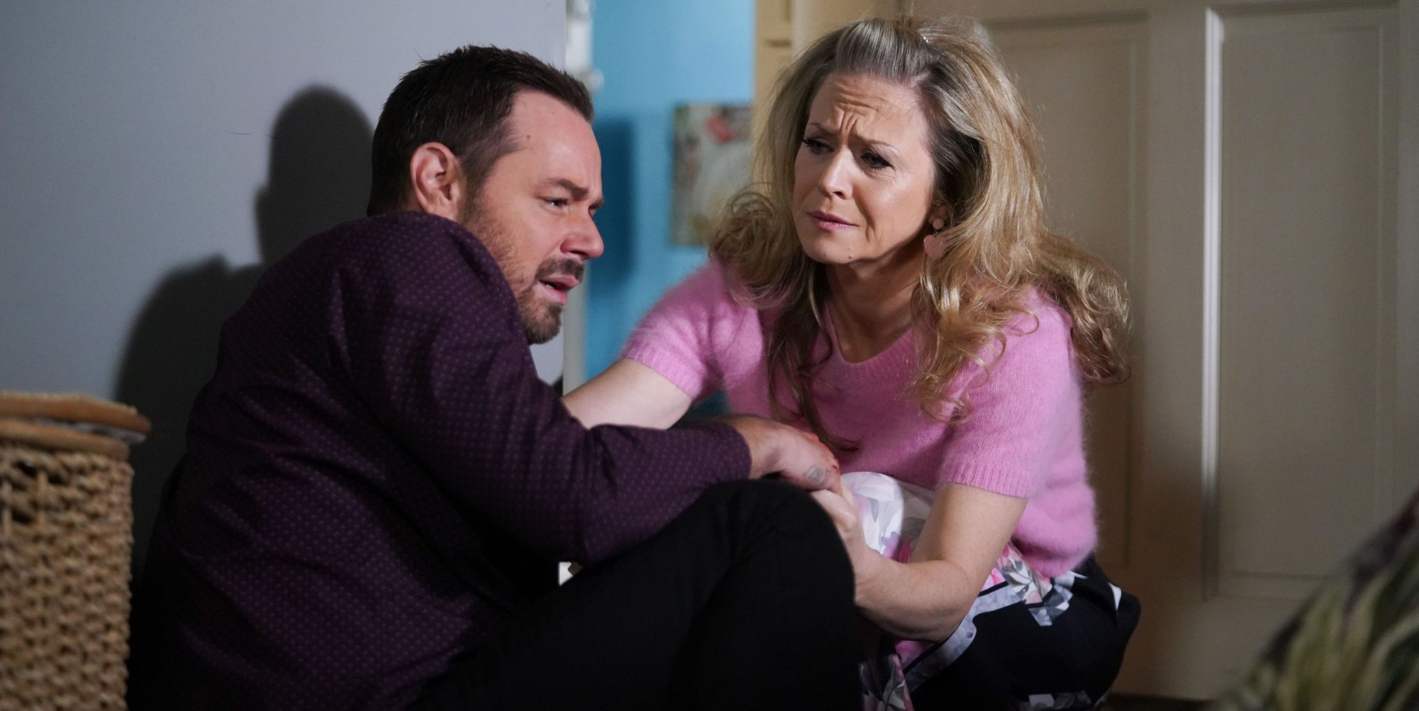 Linda Carter finds Mick in a state in EastEnders