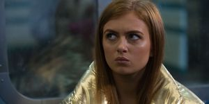 Tiffany Butcher worries about the police in EastEnders
