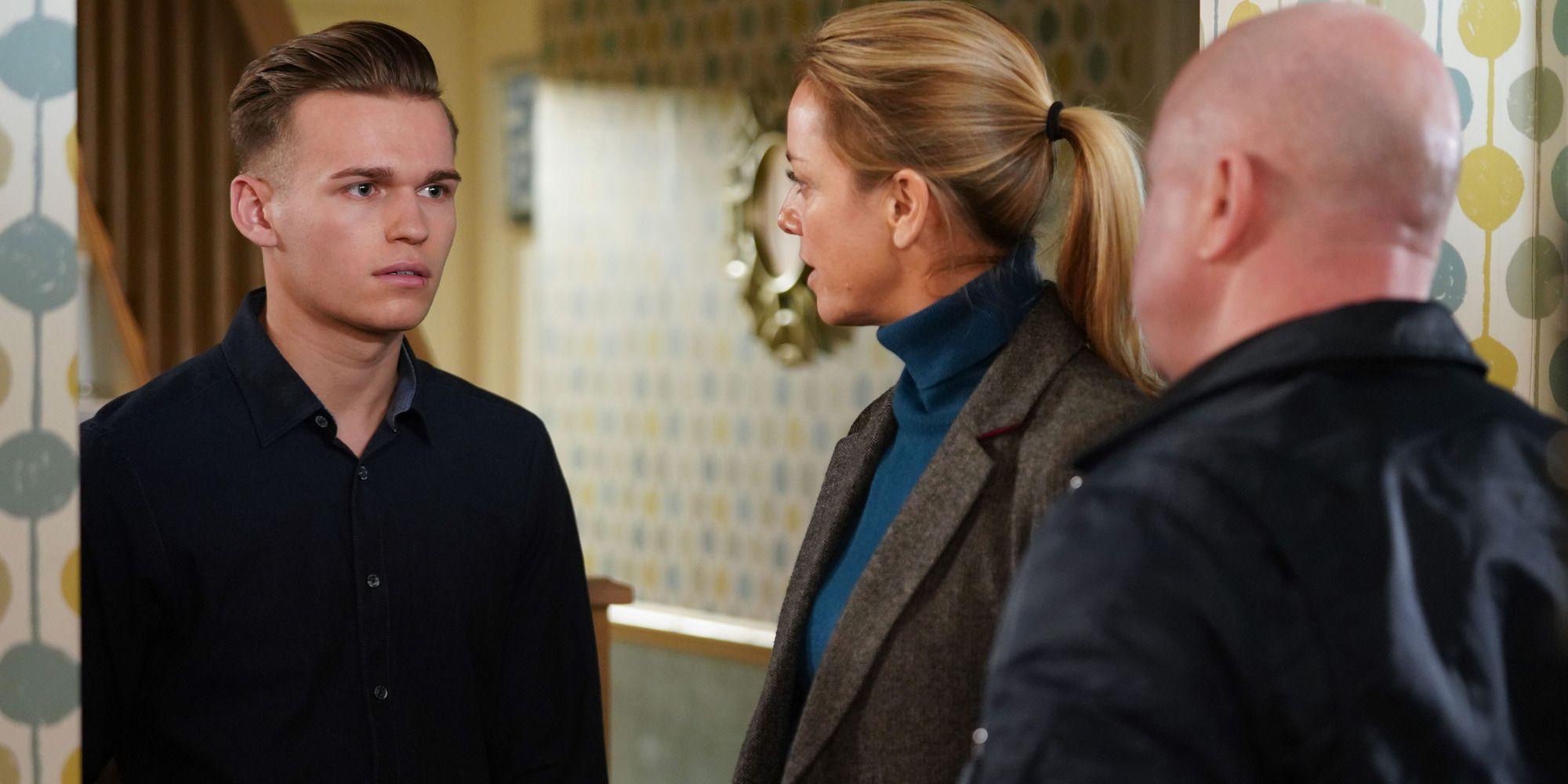 Hunter Owen antagonises Phil Mitchell in EastEnders