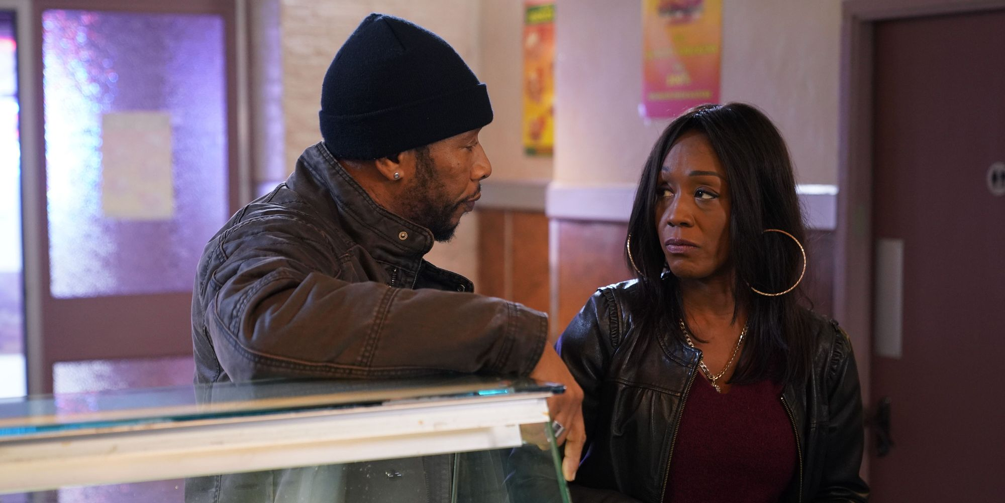 Mitch Baker makes a plea to Denise Fox in EastEnders
