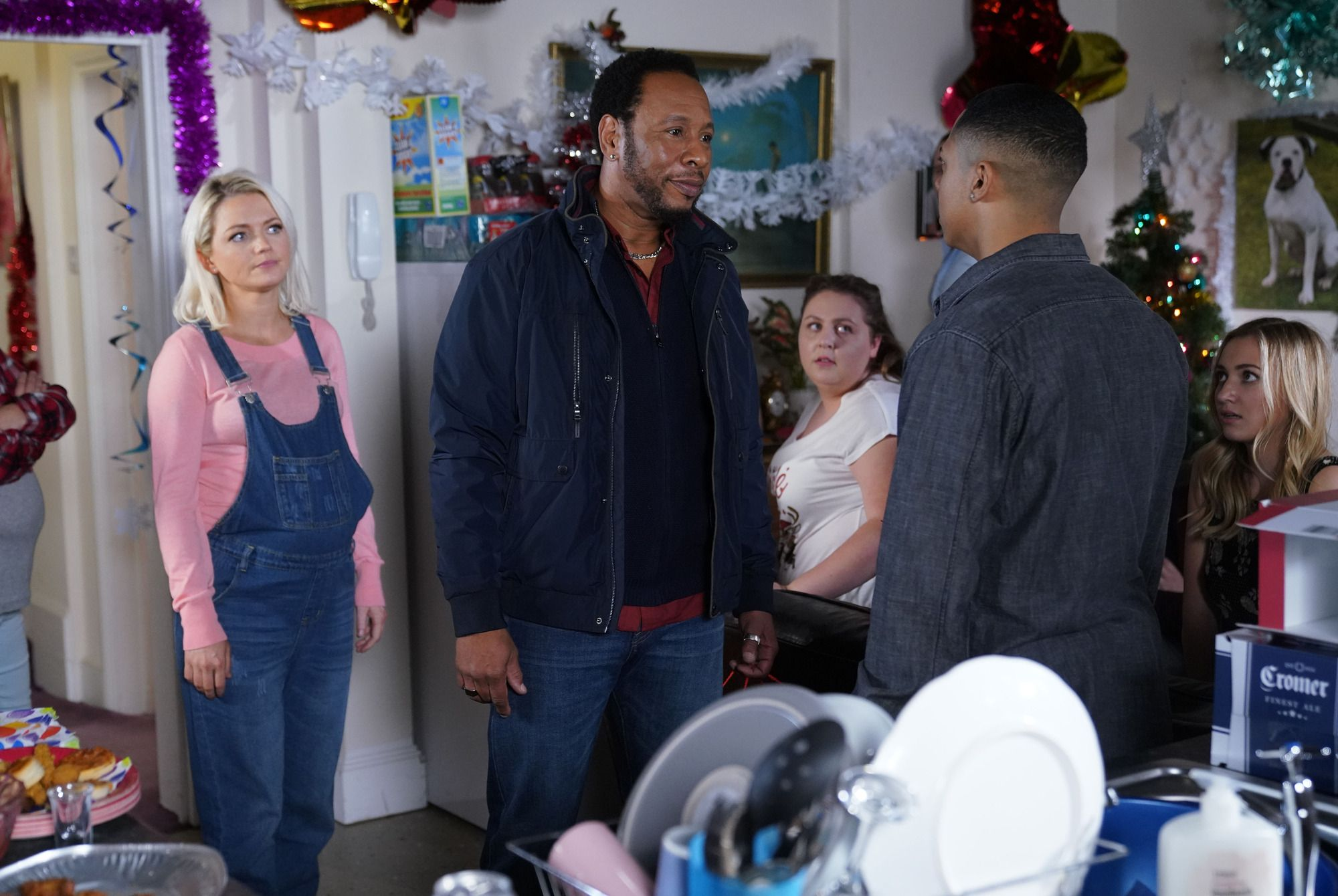 Mitch Baker is caught hiding at the Taylor house in EastEnders