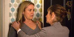 Mel Owen receives a nasty shock in EastEnders