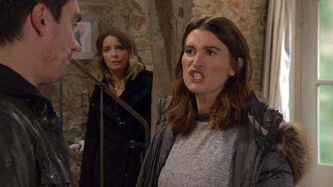 Cain and Debbie Dingle row in Emmerdale