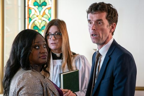 Jessie Grant and Marlon Dingle's wedding gets interrupted in Emmerdale