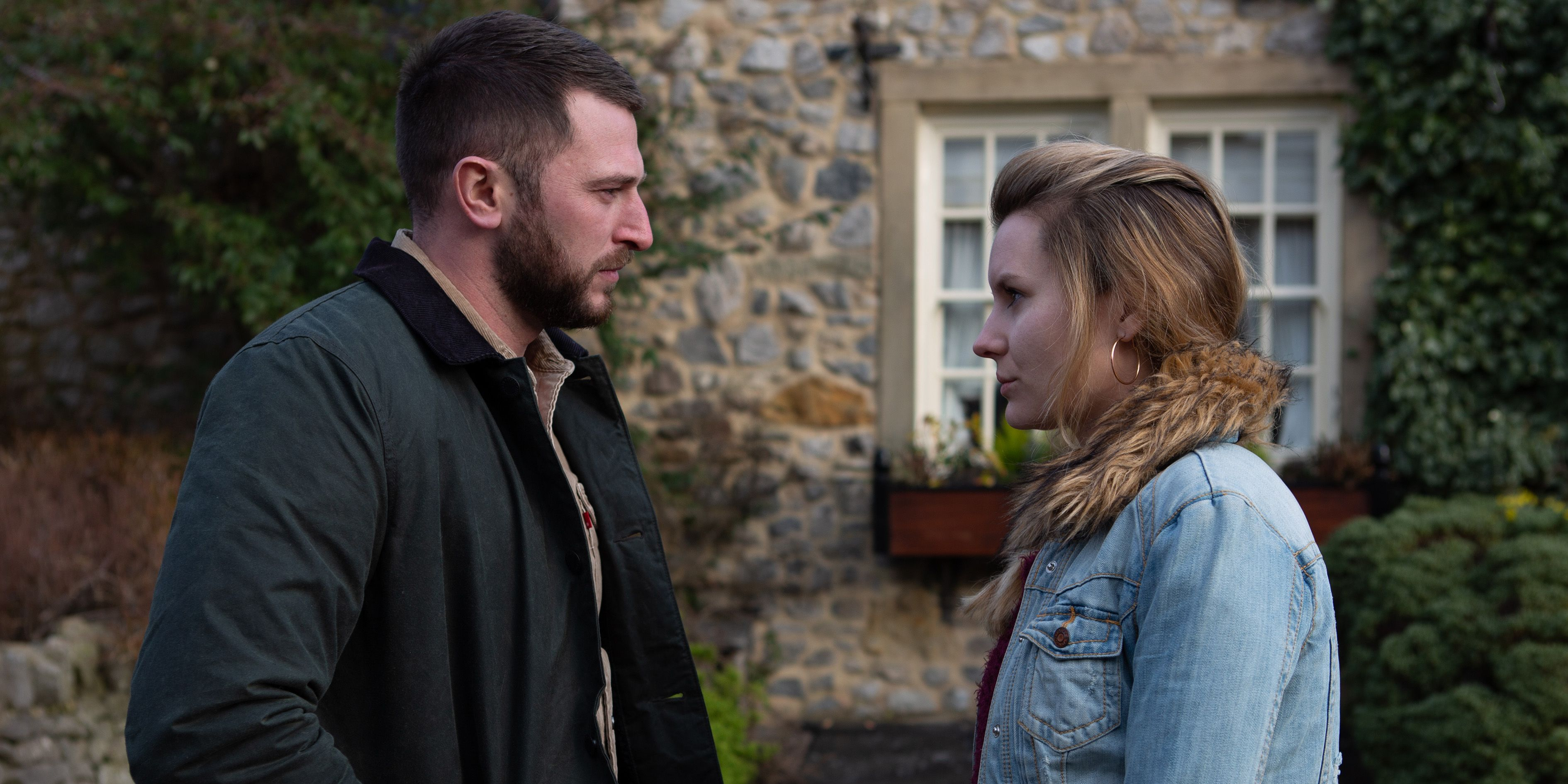 Dawn Taylor is confronted by Leon in Emmerdale