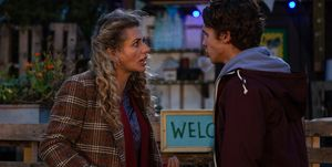 Maya Stepney confronts Jacob Gallagher in Emmerdale