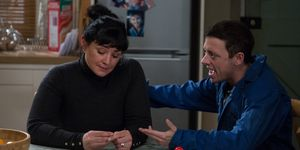 Moira Dingle and Matty Barton argue over Cain in Emmerdale