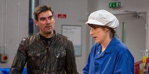 Kerry Wyatt gets tough with Cain Dingle in Emmerdale
