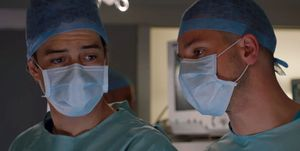Lofty and Dominic Copeland in Holby City