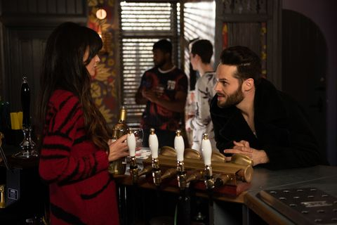 Mercedes McQueen is tempted by Liam Donovan in Hollyoaks