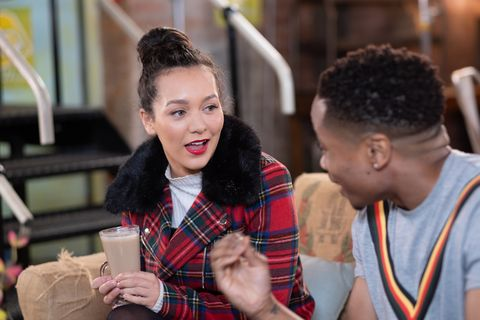 Cleo McQueen has a date with Mitchell Deveraux in Hollyoaks