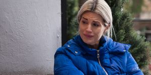 Mandy Richardson comforts Brooke Hathaway in Hollyoaks