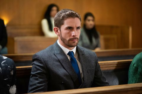 Brody Hudson in court in Hollyoaks