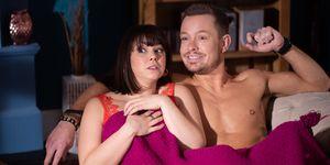 Darren Osborne and Charlie Dean find Nancy Osborne and Kyle Kelly together in Hollyoaks