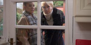 Cindy Cunningham has a tense return in Hollyoaks