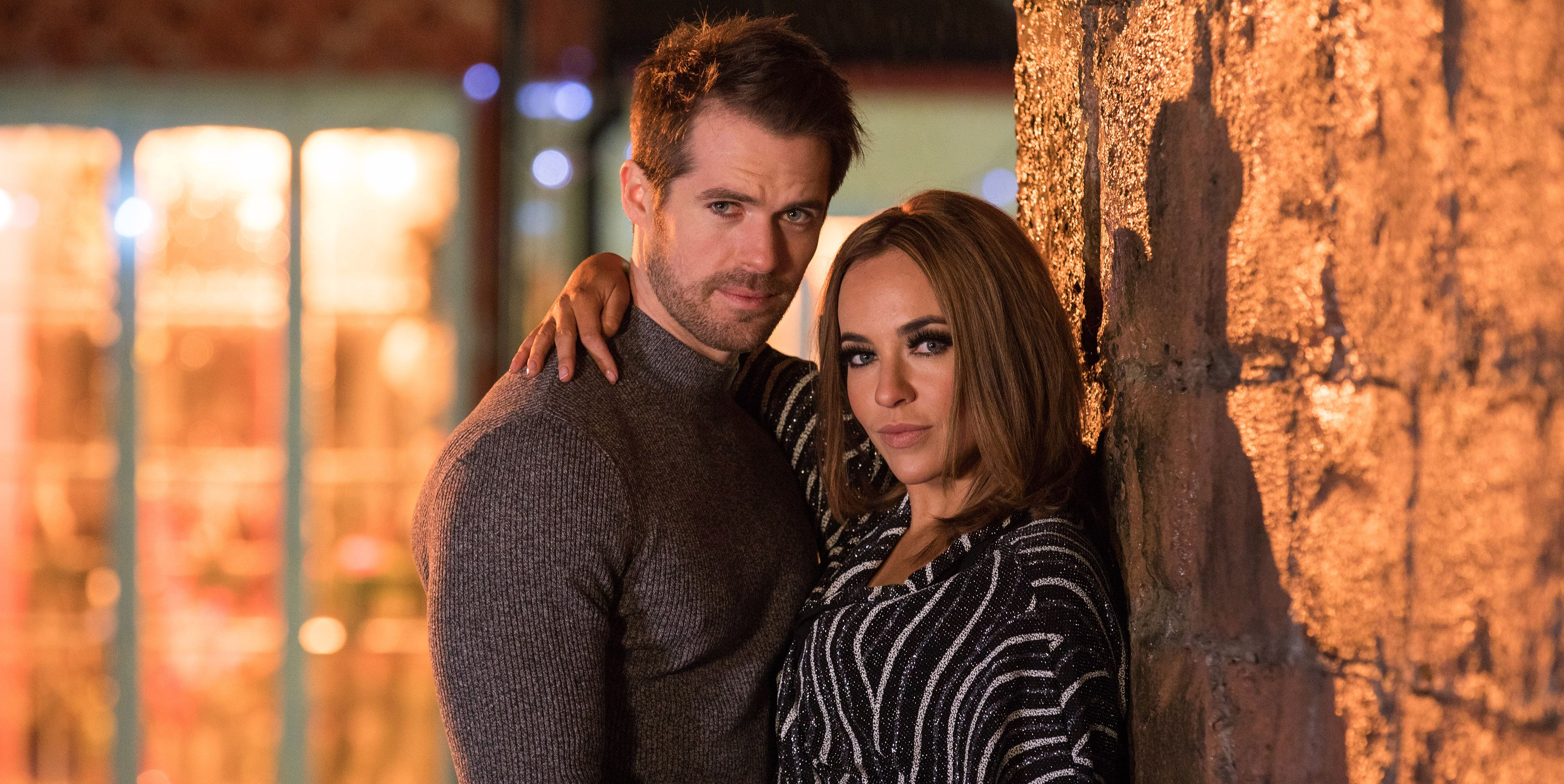 Kyle Pryor and Stephanie Davis as Laurie and Sinead Shelby in Hollyoaks