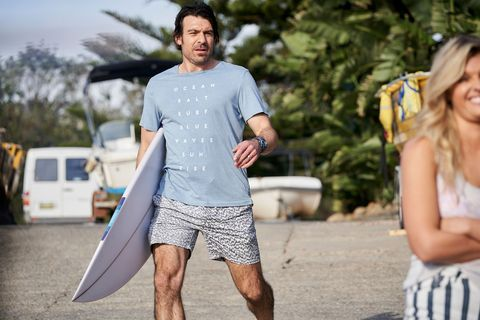 Ben Astoni goes for a surf in Home and Away