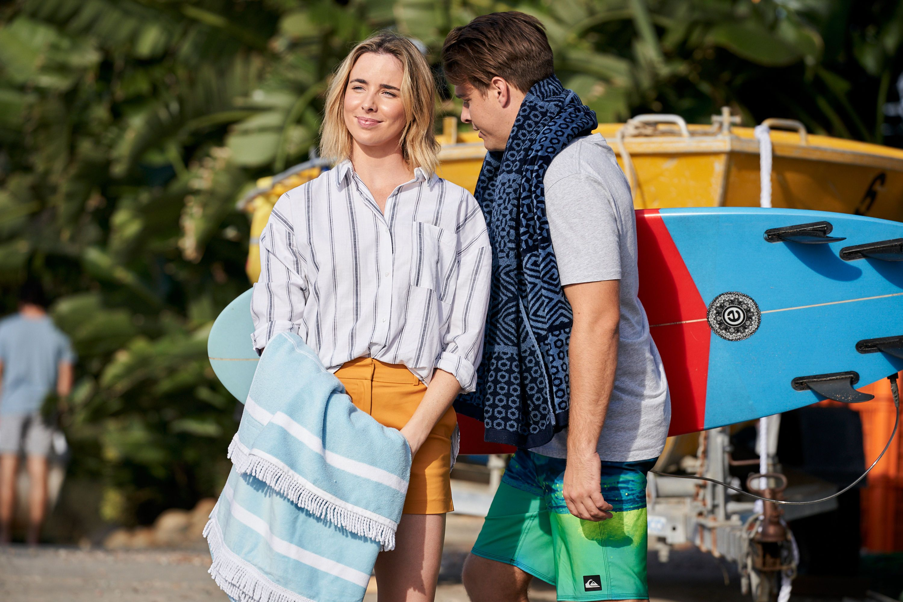 Chelsea Campbell and Colby Thorne in Home and Away