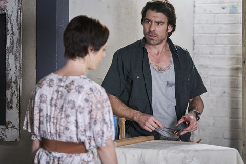 Ben Astoni is hard at work in Home and Away