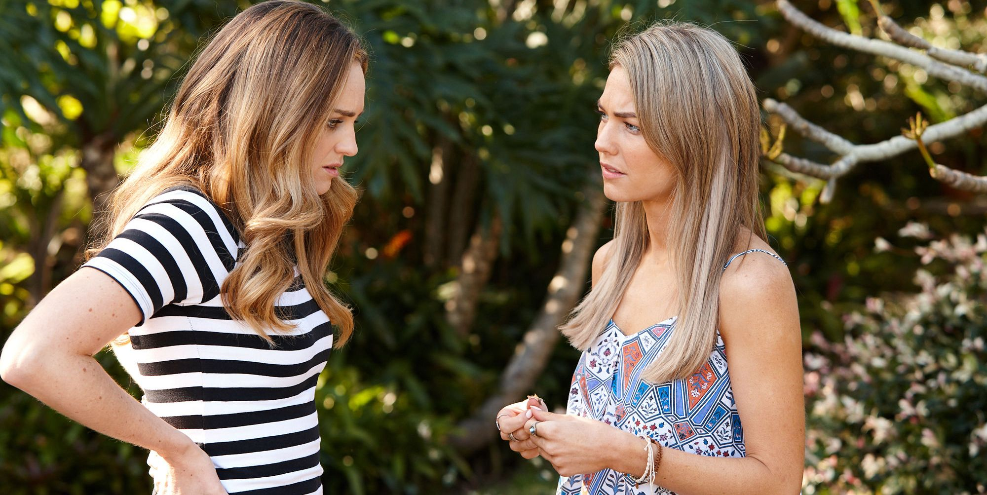 Tori Morgan corners Jasmine Delaney in Home and Away