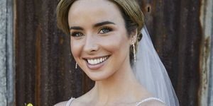 Chelsea Campbell on her wedding day in Home and Away