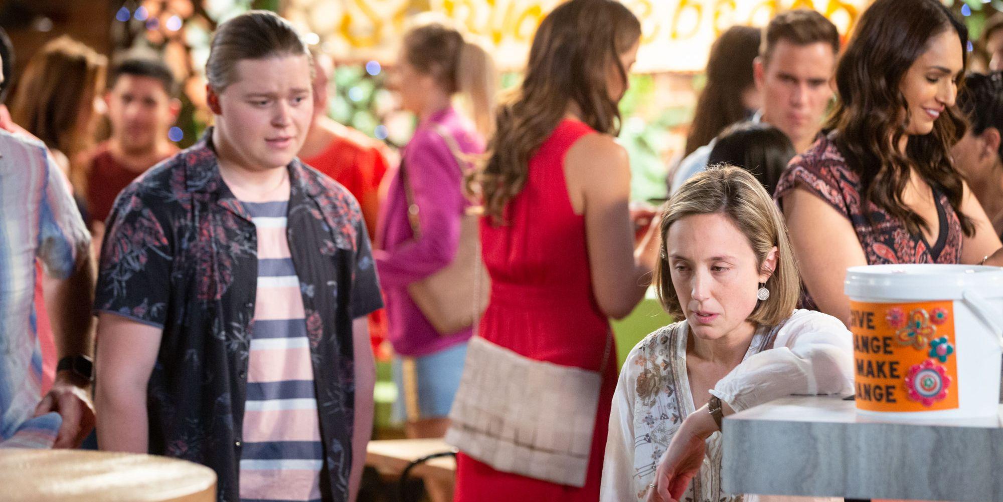 Callum Rebecchi returns and Sonya feels faint in Neighbours