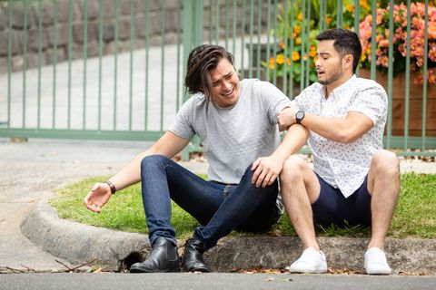 Leo Tanaka is supported by David Tanaka in Neighbours