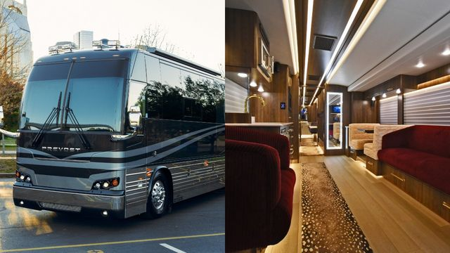 bus and the inside lounge