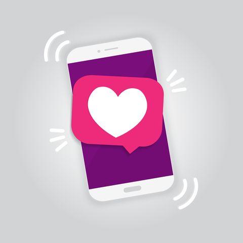 social media notification, likes notification, vector illustration