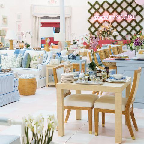 Interior design, Room, Furniture, Property, Living room, Table, Building, Home, Restaurant, Design,
