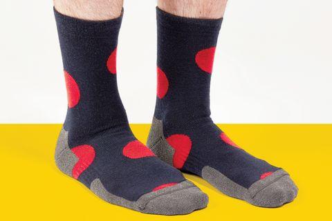 Sock, Wool, Footwear, Shoe, Fashion accessory, Joint, Ankle, Boot,