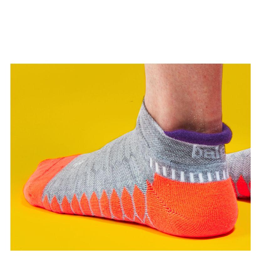 More Mile Endurance Running Socks Blue Anti-Blister Coolmax Cushioned Sport Sock