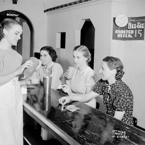 three woman enjoying ice cream