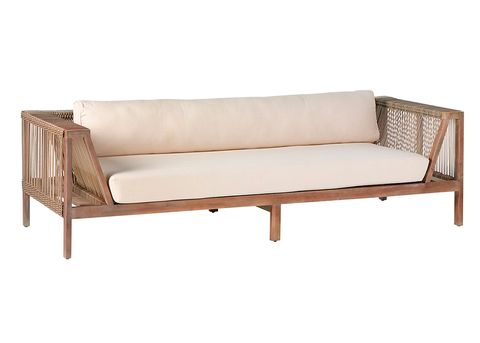 Furniture, Couch, studio couch, Outdoor sofa, Sofa bed, Outdoor furniture, Loveseat, Beige, Futon, Wood,