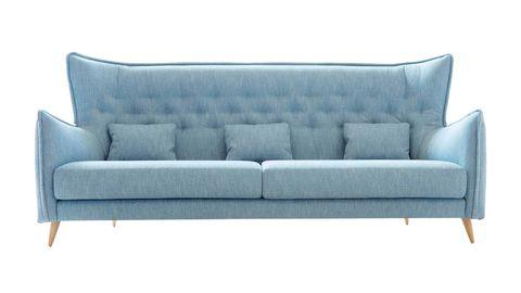 Salones: muebles en tendencia. Sofá de capitoné