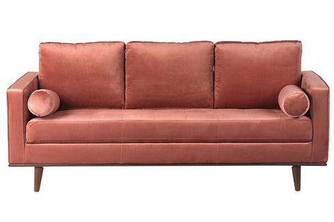 sofá coimbra tapizado en terciopelo
