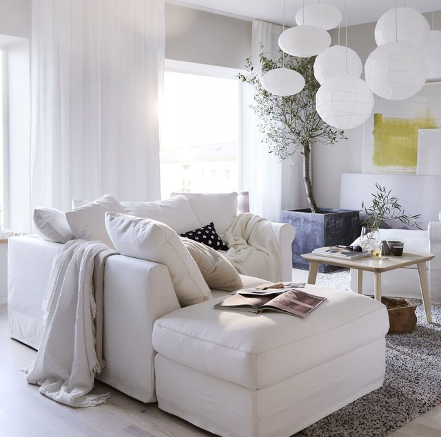 sofá blanco grÖnlid de ikea