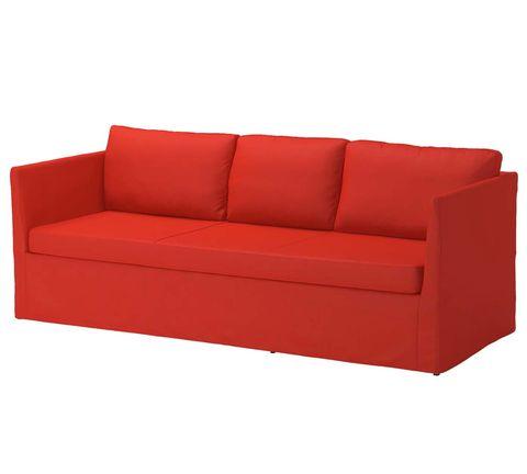 Sofá rojo BRÅTHULT de Ikea