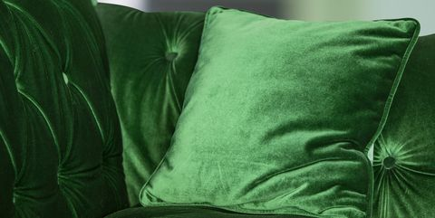 Sofá de terciopeloverde