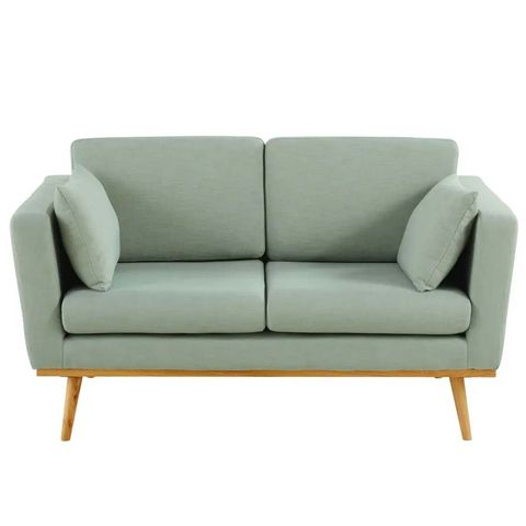 sofá vintage de 2 plazas color verdín