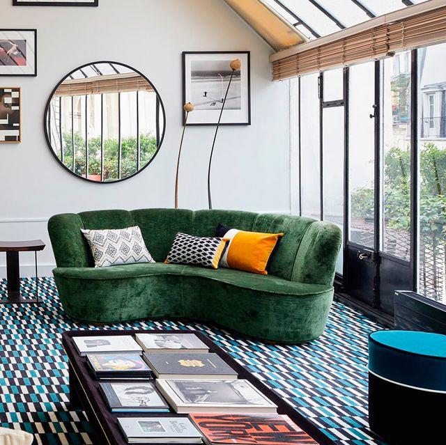 Ideas para un sofá curvo
