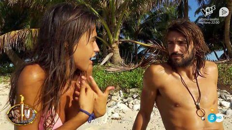 Sofía Suescun y Logan Sampedro en Supervivientes