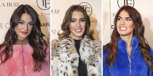 Estela Grande, Marta López y Sofía Suescun en el desfile de Toni Fernández